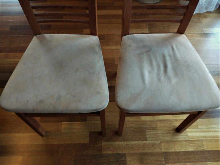 brudne krzesła przed usługą prania