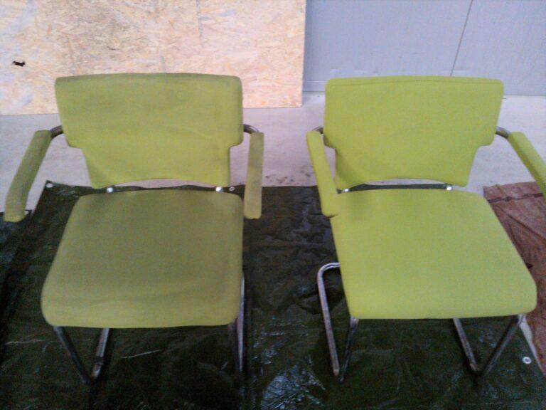 Porównanie krzeseł przed i po praniu tapicerki