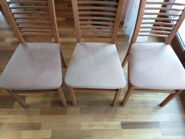 wyprane krzesła bez plam i zacieków